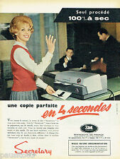 PUBLICITE ADVERTISING 125  1959   Minnessota 3M COMPANY   copieur Secretary