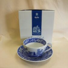 """SPODE BLUE ROOM JUMBO CUP & SAUCER """"TOWER"""" MADE IN ENGLAND *NEW*"""