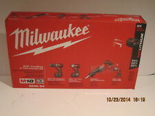 Milwaukee 2696-24 M18 4 Piece Cordless Combo Kit, FREE SHIP NEW IN SEALED BOX!!!