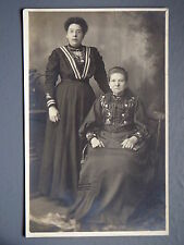 R&L Postcard: Real Photo of Edwardian Ladies in Period Fashion Dress