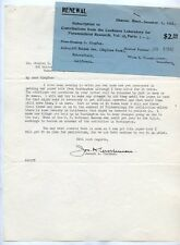 Autographed signed letter Doctor Joseph A Cushman  Foraminiferal Fossil #3 1930s