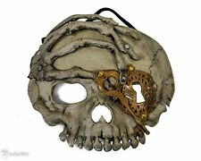 Skull Mask Soft Gel Steampunk Masquerade Halloween Costume Eye Face Mask Grey