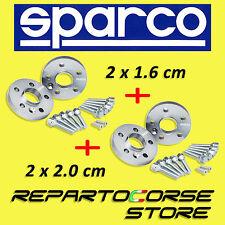 ELARGISSEUR DE VOIES SPARCO 2x16mm + 2x20mm AVEC BOULONNERIE - AUDI A4 (8K5, B8)