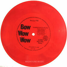 "Punk BOW WOW WOW 7"" Elimination Dancing / King Kong New Ver. RED Vinyl FLEXI"