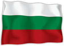 "Bulgaria Country Flag Car Bumper Window Mirror Sticker Decal 5""X4"""