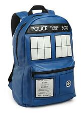 "DOCTOR WHO BBC Licensed 18"" Deluxe Faux Leather TARDIS Police Box BACKPACK PU"