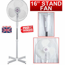 """16"""" Oscillating Air Cooling Fan Free Standing Extendable Office Home New White"""