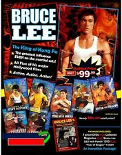 Bruce Lee Holiday Gift Set 7 DVD + Collector Magazine T-Shirt & More! $195 Value