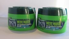 2 x Garnier Fructis Style Mess Maker Power Putty 6 All Day Strong Hold 3.OZ 86 g