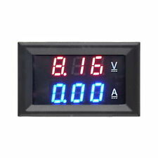 DC 100V 10A Voltmeter Ammeter Blue + Red LED Amp Dual Digital Volt Meter Gauge^T