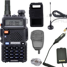 2SET x  UV-5R walkie talkie +Speaker/MIC + Case + Earpiece+ ADAPTOR +Car ANTENNA