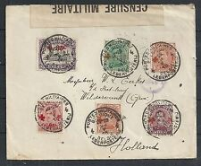 Belgium covers 1918 cens Militairy cover to Wildervank