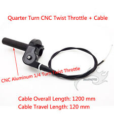 1/4 Turn CNC Twist Throttle W Cable For TTR KX XR CRF RM Motocross Dirt Pit Bike