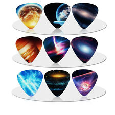 10pcs 0.71mm The Universe Planet Guitar Picks Plectrums Musical Bass Instrument