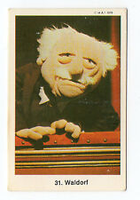 1970s Swedish Card #31 The Muppet Show Muppets balcony heckler Waldorf