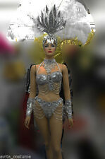Da NeeNa  T0044 Vegas Showgirl Drag Samba Headdress Costume