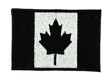 Parche bandera PATCH bordado termoadhesivo NEGRO CAMO MILITAR Canadá canadiense