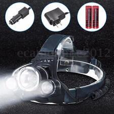 Elfeland 8000LM LED 3modo Faro Cabeza Linterna Frontal Headlight+18650+Cargador