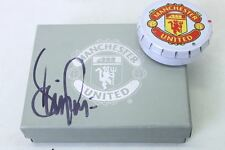 MANCHESTER UNITED Miniature Replica Trophy Set Signed By Denis Irwin 1999