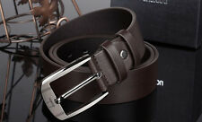 Men Metal Buckle Leather Band Belts Waistband Vintage Classic Pin Buckle Belts T