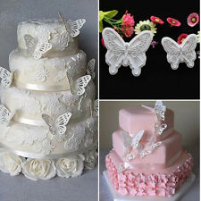 1 Set Fondant Decorating Sugarcraft Cookie Plunger Butterfly Cake Cutters Mold