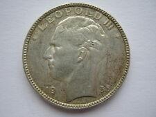 Belgium 1935 silver 20 Francs GVF