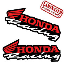 2 Adesivi Vinile Sticker Auto Moto Honda Racing Sponsor Rally Scooter Tuning