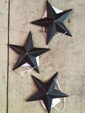 "(Set of 3) BLACK BARN STARS 3 3/8"" PRIMITIVE RUSTIC COUNTRY DECOR ""FREE SHIPPING"