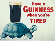 GUINNESS pub / bar Sign , Retro metal Aluminium Sign , WHEN YOUR TIRED
