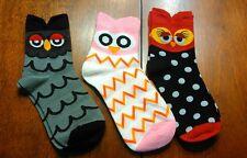 Women 3D Animals Striped Cartoon Socks Owl Footprints Cotton Socks