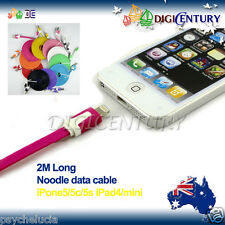 2M Long Flat Noodle IPHONE 6 6+ 5 5S TOUCH IPAD Mini CHARGING DATA SYNC CABLE
