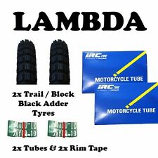 2x Black Adder TRAIL Tyres (300 x 17) for Honda CT110 Postie 2 rim tapes 2 tubes