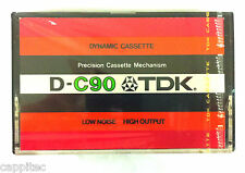 VINTAGE (1977) TDK D-C90 FERRIC BLANK AUDIO CASSETTE TAPE, NEW SEMI SEALED STOCK