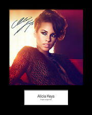 ALICIA KEYS #2 Signed Photo Print 10x8 Mounted Photo Print - FREE DELIVERY