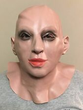 LATEX FEMALE WOMAN LADY CROSS DRESS TRANSGENDER HALLOWEEN FULL OVERHEAD MASK