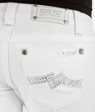 MISS ME JEANS SALE Buckle NWT/DEFECT Low Rise White Flare Stretch Jean 27 X 33
