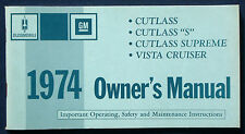 Owner's Manual Betriebsanleitung 1974 Oldsmobile Cutlass  Vista Cruiser    (USA)