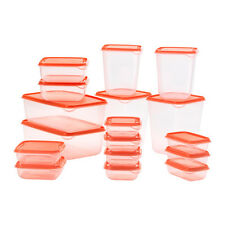 IKEA ORANGE PRUTA FOOD SAVER STORAGE BOX 17 PIECE CONTAINER  FOOD STORAGE BOX