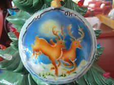 REINDEER  ~ CAPIZ SHELL ORNAMENT             1640K*