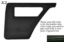 GREEN STITCH 2X REAR DOOR CARDS LEATHER COVER FITS TALBOT SUNBEAM & LOTUS TI