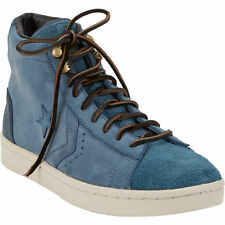 Mens Converse Pro Leather Zip Sneakers Blue Zipper First String Hi-Top Rare Shoe