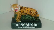 Vintage Chalkware Bengal Gin Imported & Undomesticated Tiger Bar Bottle Display