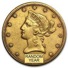 $10 Liberty Gold Eagle Pre-33 Gold Coin - Random Year - Extra Fine - SKU #118
