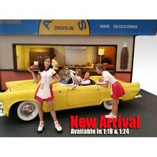CARHOP WAITRESS BRITTANY & GRACE SET OF 2 1:18 BY AMERICAN DIORAMA 23863 23864