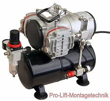 2 Zyl. Airbrush Kompressor AS-28A Airbrushkompressor 46 l/min wartungsfrei 01763