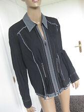 Bonita zauberhafte Jacke 42 schwarz grau