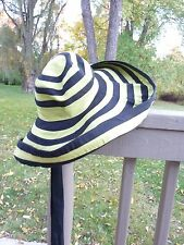 PRADA RUNWAY SPRING 2011 STRIPED SUN HAT SOLD OUT IMPOSSIBLE TO FIND!!