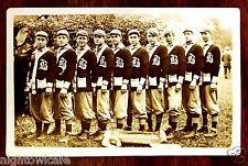 BISMARCK Baseball Team in Sweaters Bismarck Minneapolis ND MN Photo Postcard '09