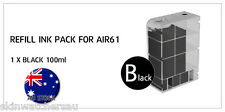 Black Replacement Ink Tank with ink for AIR61 Auto Ink Refill machine