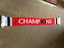 """2010/11 Manchester United """" Champions 19 """" Premier League Football Scarf"""